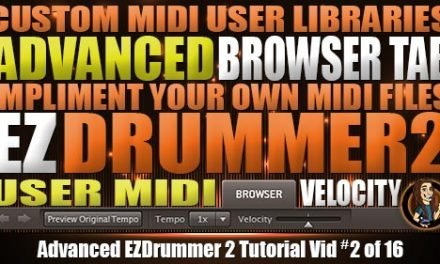 Advanced Browser Tab in EZDrummer 2
