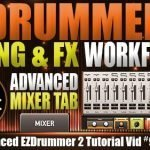 Advanced Mixer Tab in EZDrummer 2